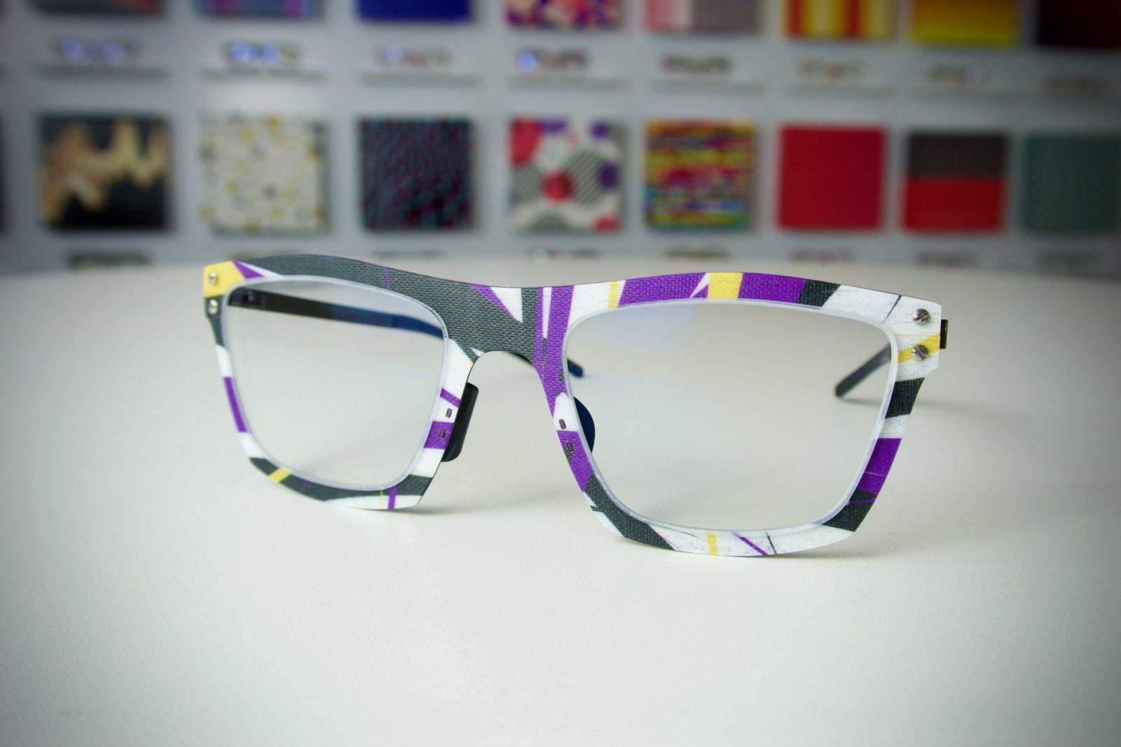 Thinwood egyedi lila sárga szemüveg