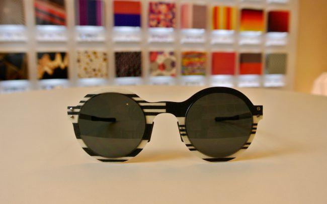 Thinwood fekete fehér art deco napszemüveg