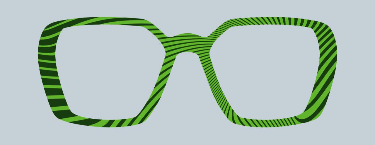 Thinwood zöld szemüveg látványterv